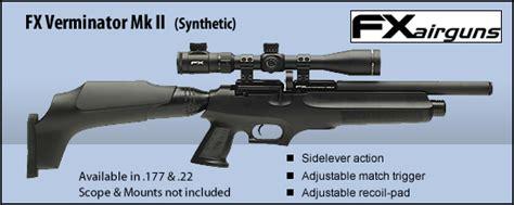 Fx Verminator Mk Ii Pcp Air Rifle fx verminator mk ii fx airguns compressa