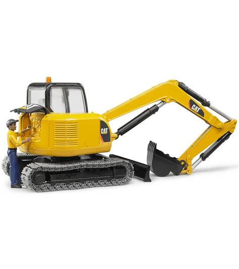 bruder toys bruder toys cat mini excavator with worker vehicle