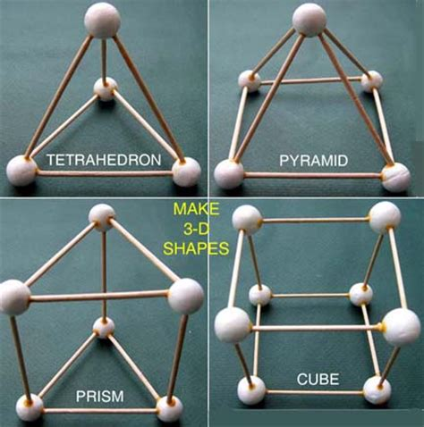 How To Make A 3d Figure Out Of Paper - toothpick shapes with marshmallows i these