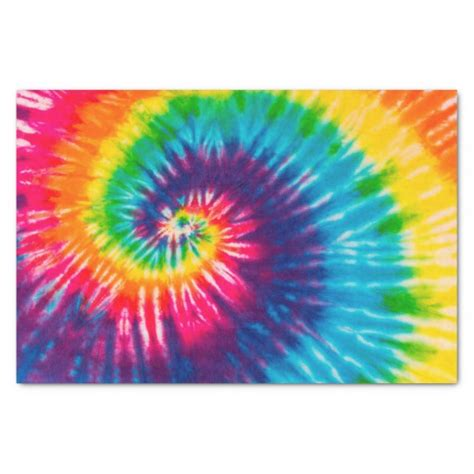 How To Make Tie Dye Paper - colorful tie dye pattern tissue paper zazzle