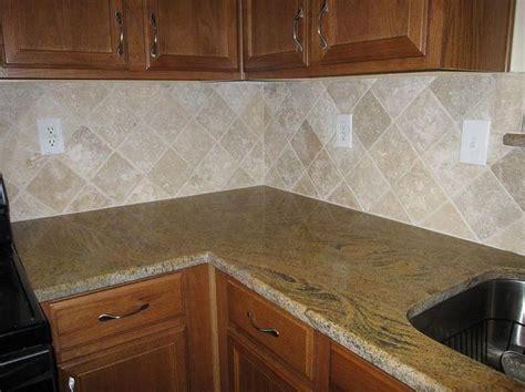 diagonal tile backsplash tumbled backsplash ideas