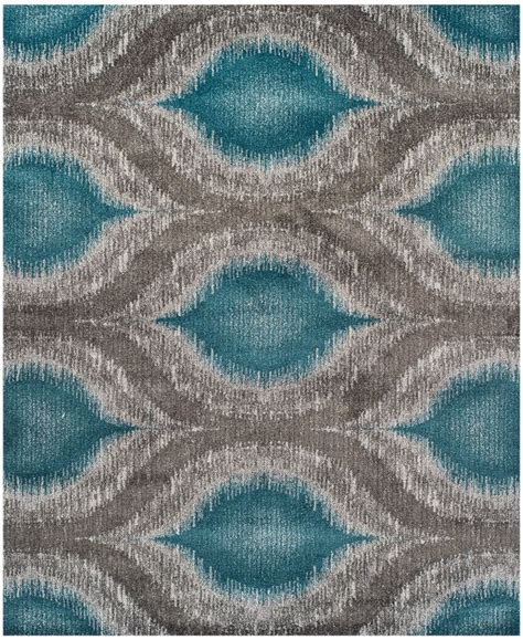 dalyn neo grey cove teal 9 6 quot x 13 2 quot area rug