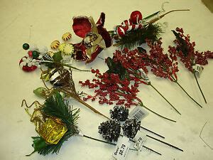 wholesale christmas floral picks picks floral 13 pc mix lot wholesale lot bulk decorations 6 ebay