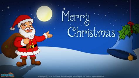 Merry christmas santa claus desktop wallpapers for kids mocomi
