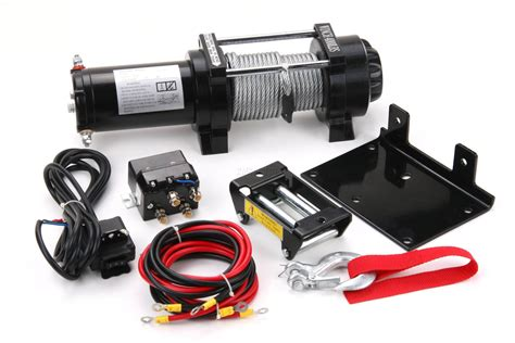 boat winch with remote control 4000 lb electric winch 12v volt with remote control quad
