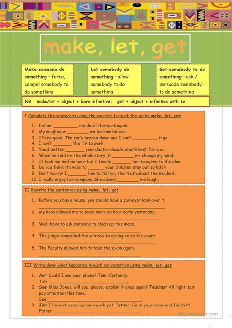 verb pattern bbc esl verb to get exercises phrasal verbs with get