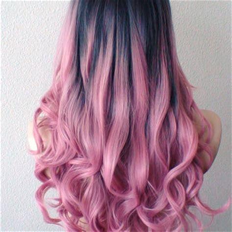 pink hair brown shadow root chocolate strawberry ombre of chocolate strawberry hair color dye roots pastel pink wig pink from kekeshop on etsy