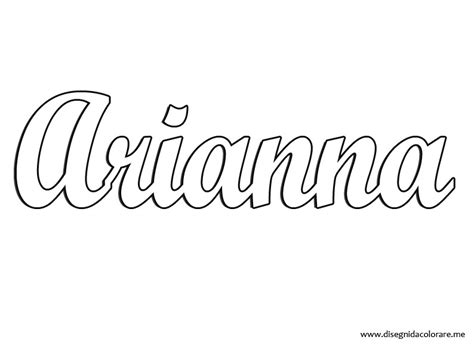 coloring pages of the name andrea arianna nome da stare disegni da colorare
