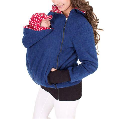 maternity polar warm fleece hoodie jumper pullover