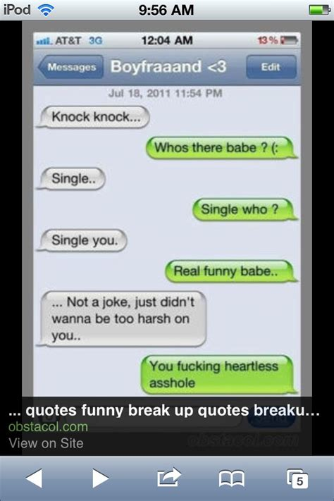 funny quotes after a break up