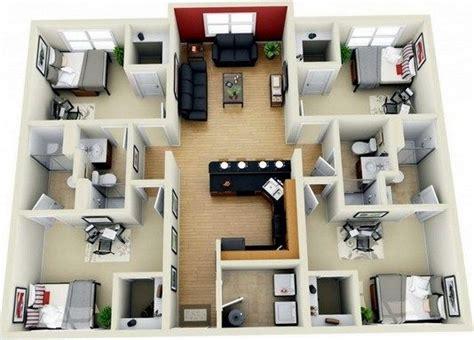 gambar  desain rumah minimalis   kamar tidur floor plans bedroom house plans house