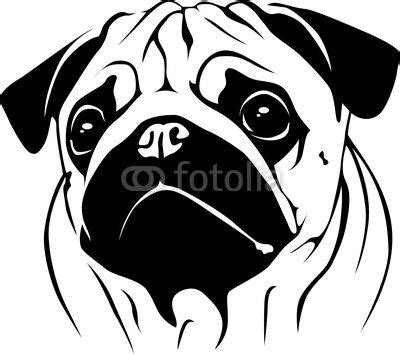 pug free to home pug silhouette portrait pug 02 from dogarts royalty free vector 17147848 on