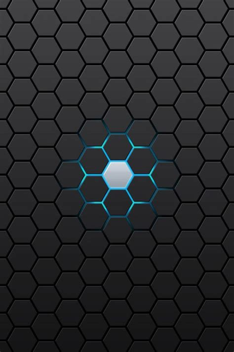 abstract black hexagon iphone  wallpapers   hd