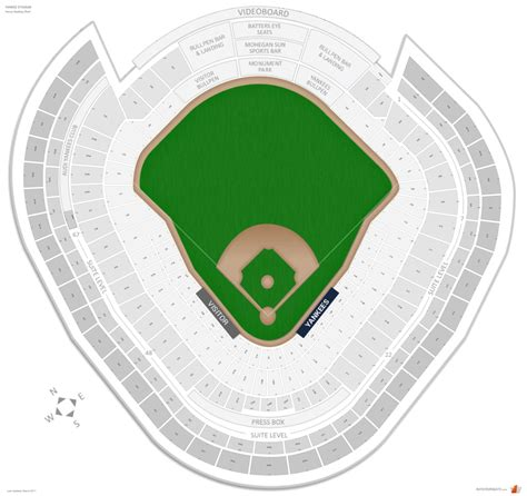 Yankee Stadium Seating Chart View Section by New York Yankees Seating Guide Yankee Stadium
