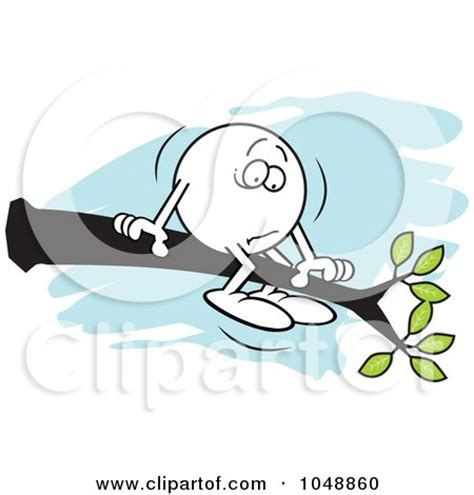 out on a limb free royalty free rf clip art illustration of a moodie