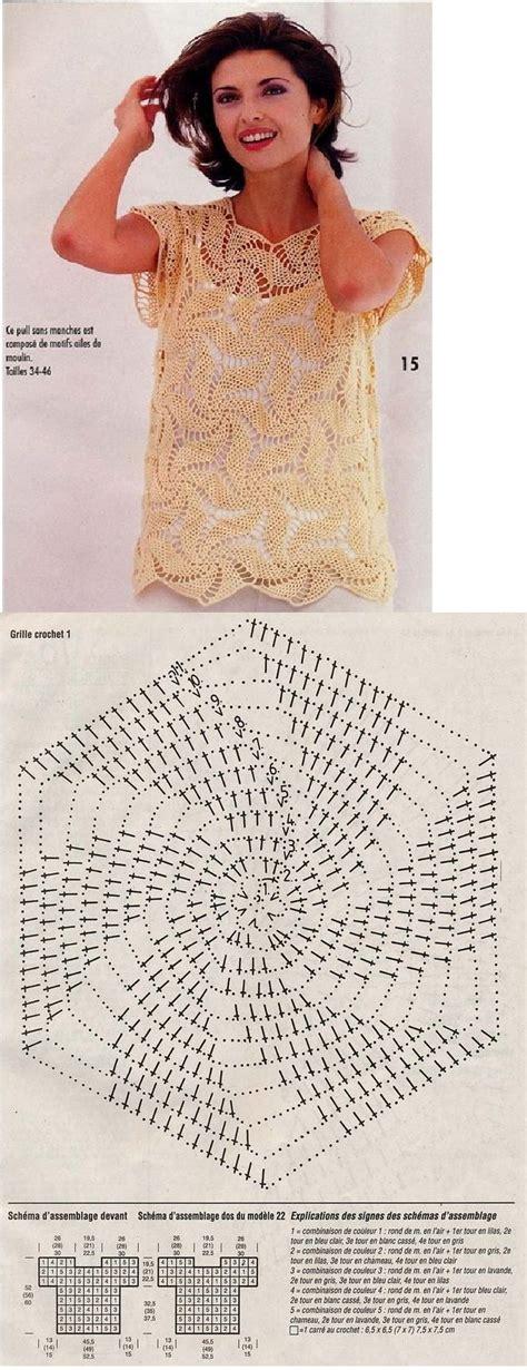 blusa en crochet ganchillo en punto relieve espiral 4152 mejores im 225 genes sobre graficos a crochet en