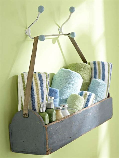 creative bathroom storage ideas diy bathroom towel storage 7 creative ideas decorating