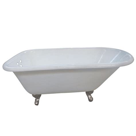 3 foot bathtub aqua eden 5 5 ft cast iron satin nickel claw foot classic