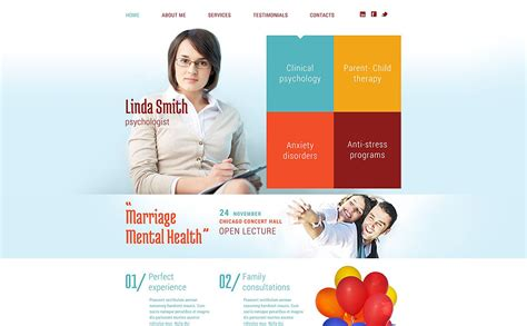 Psychological Counseling Website Template 53011 Counselling Websites Templates