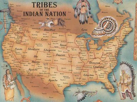 america map indian tribes gallimaufry american genocide