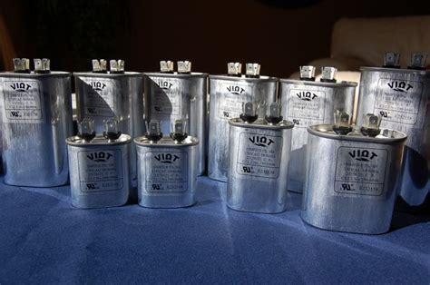 blown furnace capacitor lot 10 in a set capacitors 5 to 50 ufd oval 370v compressor furnace blower fan motor start run hvac