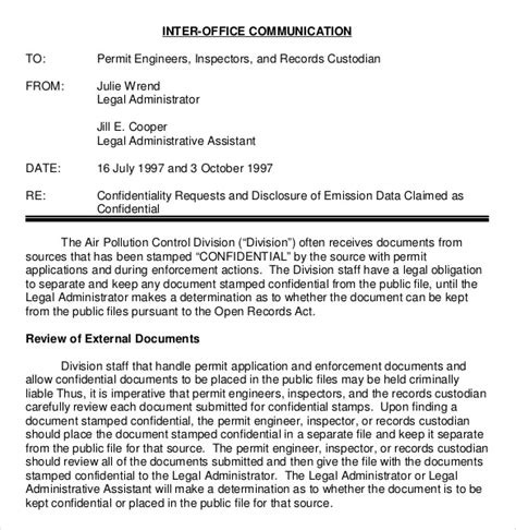 confidential memo template 10 free word pdf documents