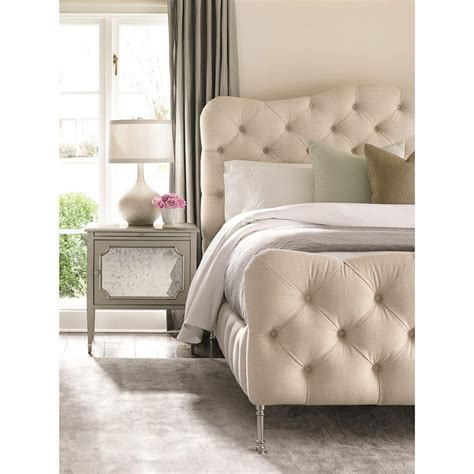 tufted bed queen yvette french modern natural linen tufted bed queen