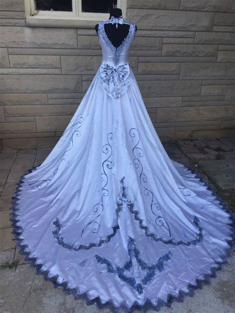 Wedding Dress Costume by Corpse Emily Costume Wedding Dress Veil
