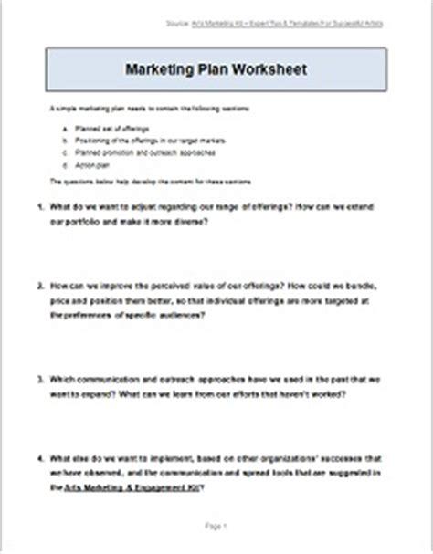 all templates & worksheets arts marketing & engagement kit