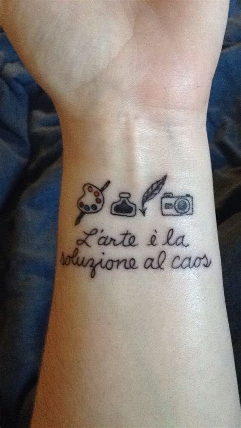 italian wrist tattoos paint pallet brush ink and quill and with quot