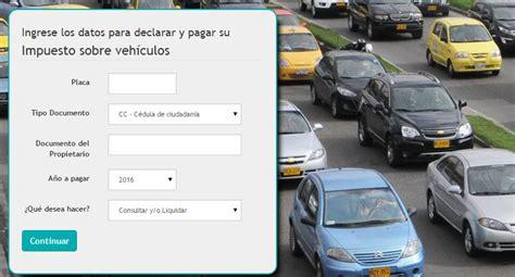 plazo para el pago del impuesto vehiculos bogota ao 2016 pago de impuesto vehiculo cundinamarca2016 c 243 mo pago el