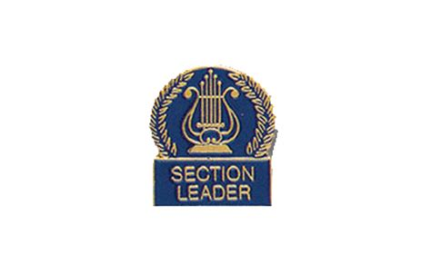 Section Leader by School Pin Awards Lyre Section Leader Enamel Pin