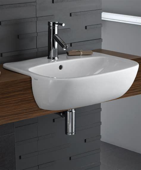 semi recessed bathroom twyford moda 550mm semi recessed basin