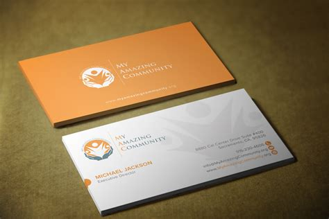 nonprofit business card templates non profit business cards community non profit print