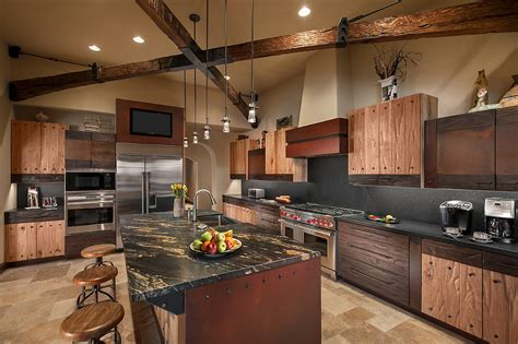 metropolitan home kitchen design rustic luxury kitchen interiors by color