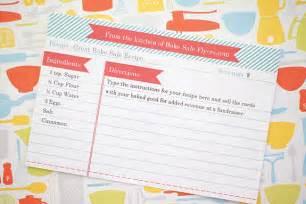 recipe card template bake sale flyers free flyer designs