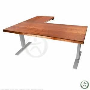 l shaped standing desk shop uplift 950 height adjustable solid wood standing desks