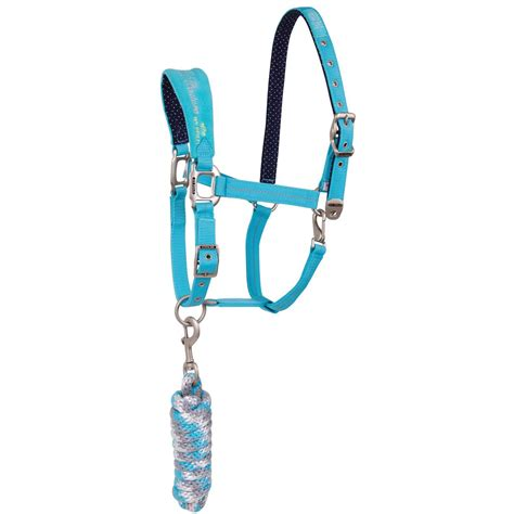 horse tack with lights light blue hv polo crown halter horse halters