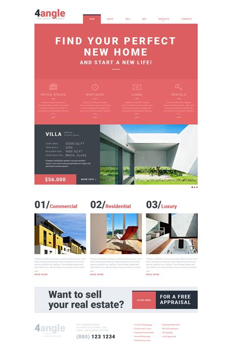 Real Estate Agency Responsive Website Template 53044 Real Estate Responsive Website Templates Free