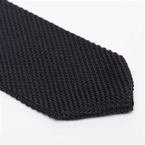 black silk knit tie silk knit tie lapel button set black chanman