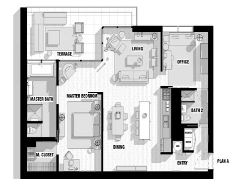 Modern Loft Floor Plans | open floor plans with loft modern loft floor plans house
