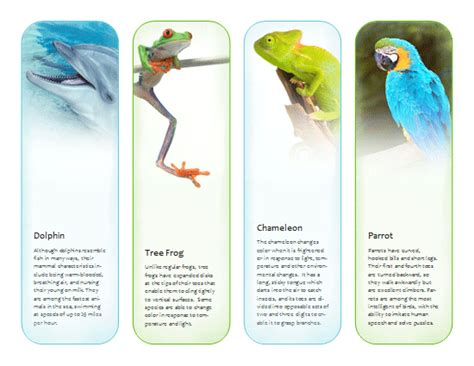 Bookmarks Tropical Animals Template Microsoft Publisher Template Ms Office Templates Microsoft Office Bookmark Template