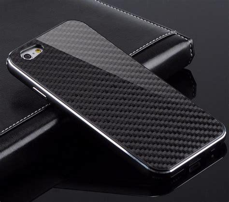 carbon fiber element  cover case aluminum metal frame borders  apple iphone