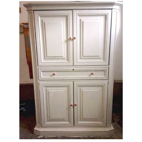 White Antique Armoire by Antique White Distressed Armoire Dresser Nursery