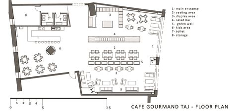 Floor Plans With Dimensions The Cafe Gourmand Taj Mall First Floor Plan Archnet