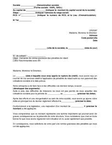 Exemple De Lettre Gracieuse modele lettre urssaf remise gracieuse