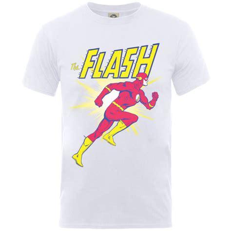 t shirt run dc white dc comics s flash running t shirt white merchandise