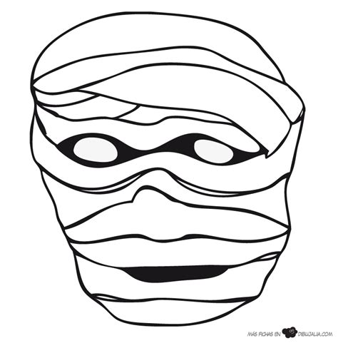 dibujos para colorear de halloween calabazas mascaras carnaval ninos m 225 scara momia dibujalia dibujos para colorear