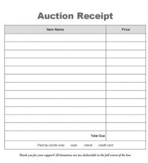 silent auction donation receipt template 17 best images about auction planning fundraising tools