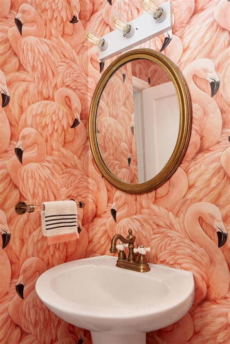 flamingo wallpaper toilet 15 reasons to love bathroom wallpaper